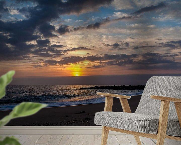 Sfeerimpressie behang: Zonsondergang Algarve van Elly Damen