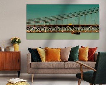 Brücke über dem Tejo Portugals von Tanja Riedel