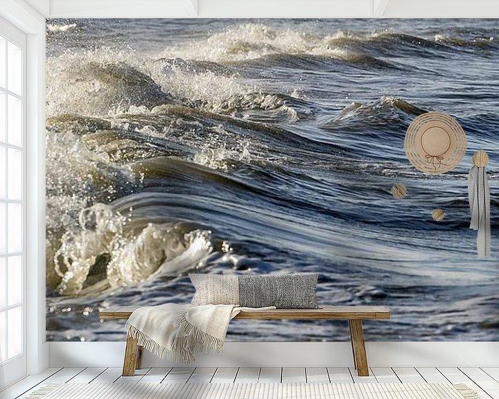 Sfeerimpressie behang: Zeestroming van Gonnie van de Schans