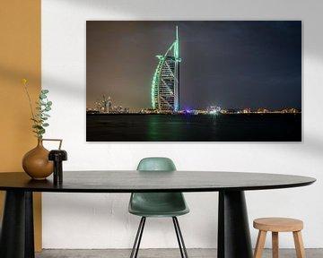 Burj al Arab Dubai at night von Dennis van Berkel