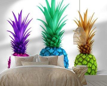kleurrijke ananas