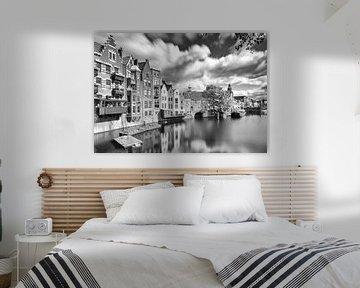 Delfshaven Rotterdam in B&W von Ilya Korzelius