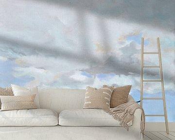 Sanfte Luft mit Möwen von Yvon Schoorl