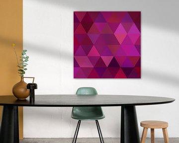 Magenta Triangle van Olis-Art