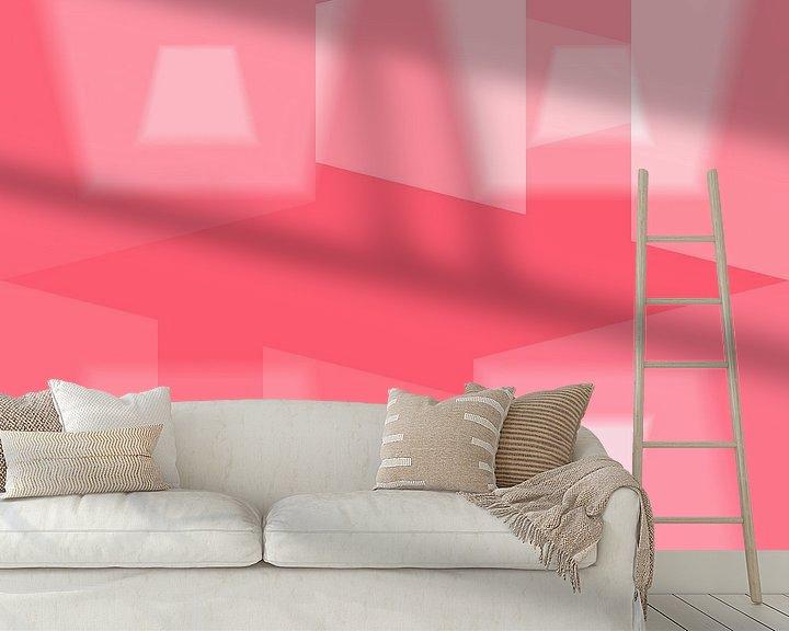 Sfeerimpressie behang: Geometric Love N.1 van Olis-Art