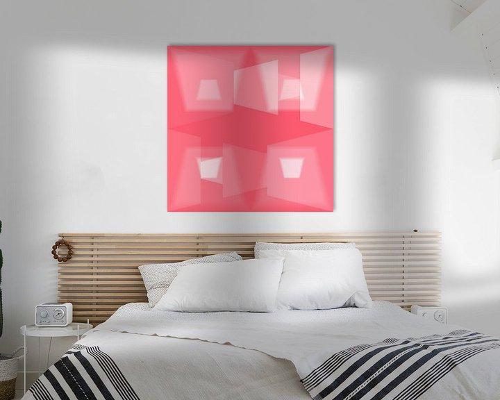 Sfeerimpressie: Geometric Love N.1 van Olis-Art