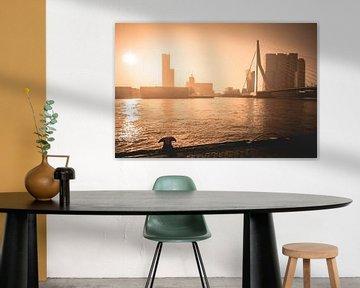 Golden Sunrise Rotterdam von Dennis Vervoorn