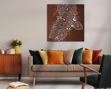 fractal studies in chocolate brown  van E11en  den Hollander