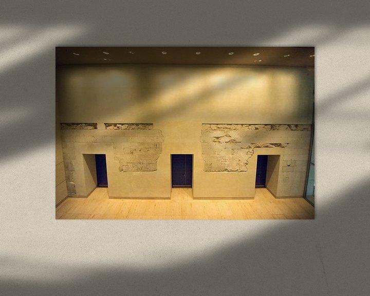 Sfeerimpressie: Ingemetselde restanten van Berlijnse Muur van Foto Amsterdam / Peter Bartelings