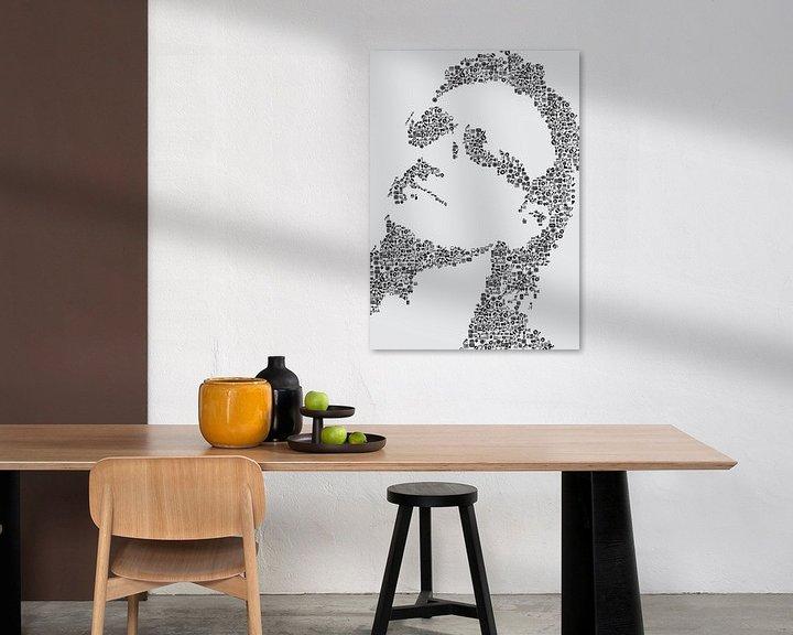 Beispiel: Bono, Silhouette von Musik-Ikonen gemacht von Color Square