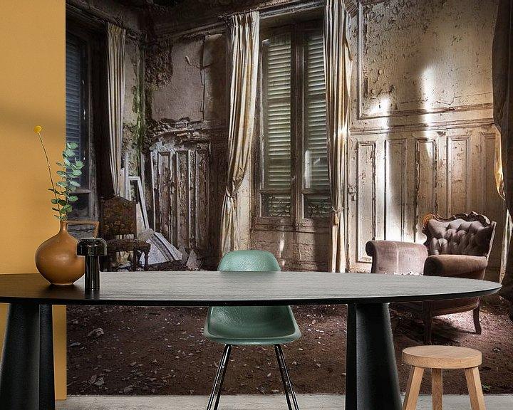 Beispiel fototapete: Verlassenes Zimmer im Schloss. von Roman Robroek