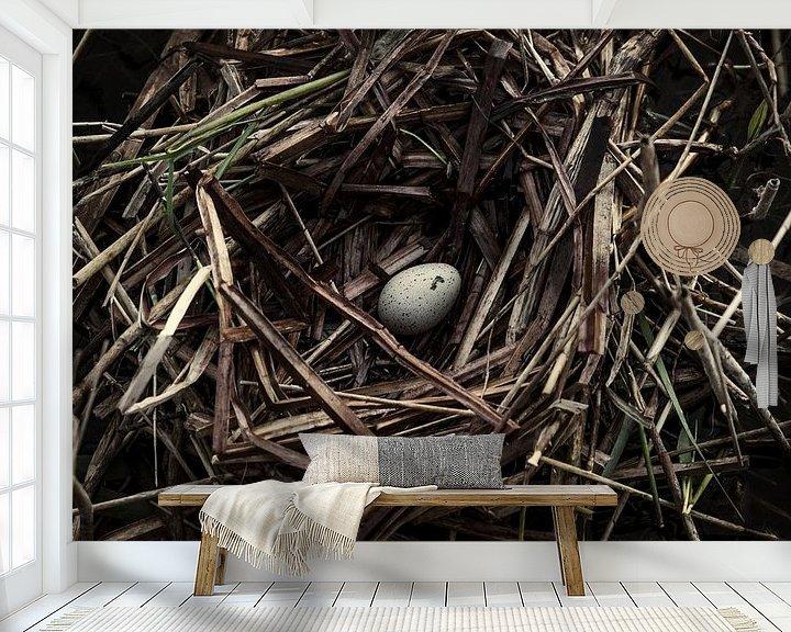 Sfeerimpressie behang: Vogelnest van Martzen Fotografie