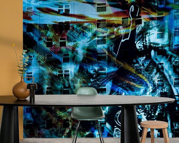 Sfeerimpressie behang: GLOW 2012 van Greetje van Son