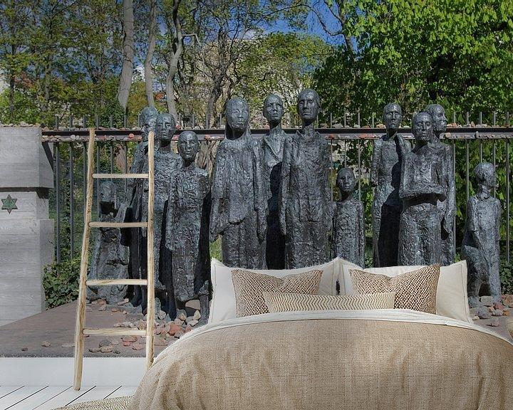 Sfeerimpressie behang: Monument in  Berlijn voor 2507 Joodse medemensen van Foto Amsterdam / Peter Bartelings