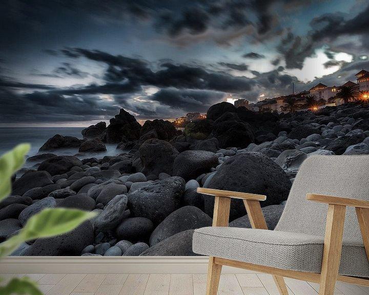 Sfeerimpressie behang: Madeira Sunset van Rob van der Teen