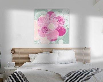 Liebe der Blumen-Rosen: rosa, Minze & Lachs von ART Eva Maria