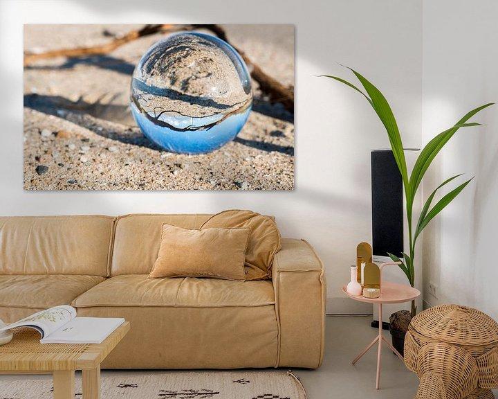 Impression: glass sphere with hellevoetsluis lighthouse sur ChrisWillemsen