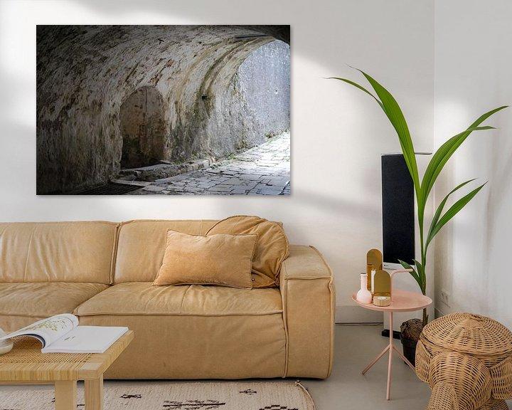 Beispiel: De gangen in het Oude Fort Kerkyra op Corfu. von Ingrid Van Maurik