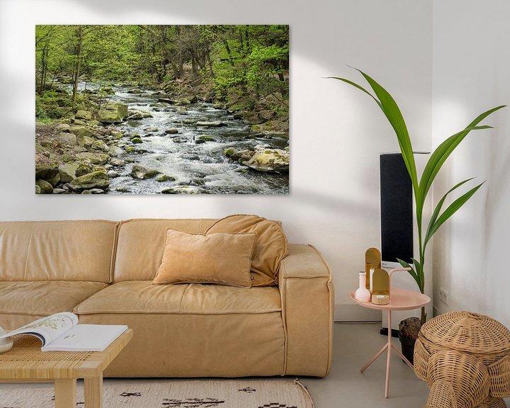 Sfeerimpressie: Landscape with river and trees van Rico Ködder