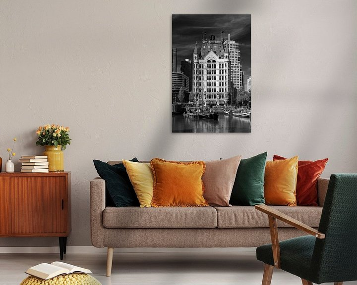 Sfeerimpressie: Witte Huis Rotterdam zwart / wit van Anton de Zeeuw