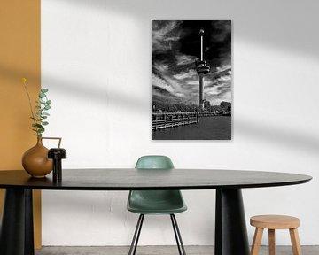 Rotterdam Euromast schwarz / weiß