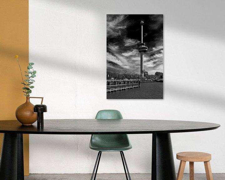 Sfeerimpressie: Euromast Rotterdam zwart / wit van Anton de Zeeuw