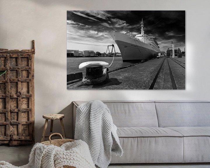 Sfeerimpressie: SS Rotterdam zwart / wit van Anton de Zeeuw