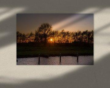 Zonsondergang Friesland von Rob Altena