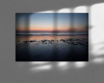 Zonsondergang aan de kust van Scheveningen van Jolien Kramer