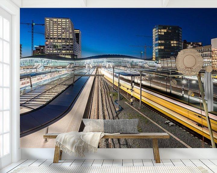 Beispiel fototapete: Utrecht Central Station am Abend von John Verbruggen