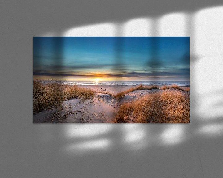Beispiel: Paal 17 Texel Sonnenuntergang von Texel360Fotografie Richard Heerschap