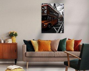 London bus / St Paul's Cathedral sur Kevin Kanbier