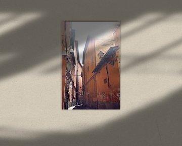 Straatje in Pisa van Jessica van den Heuvel