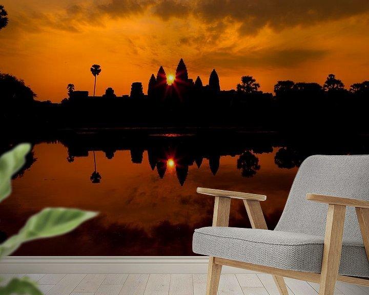 Sfeerimpressie behang: Angkor wat van Mike van den Brink