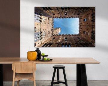 Siena, Italië - Raadhuis in kleur.