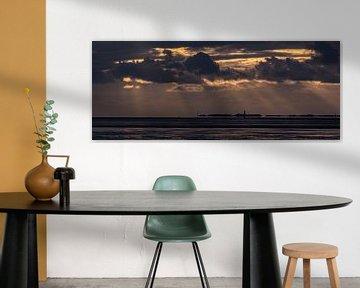 Zonsondergang Waddenzee