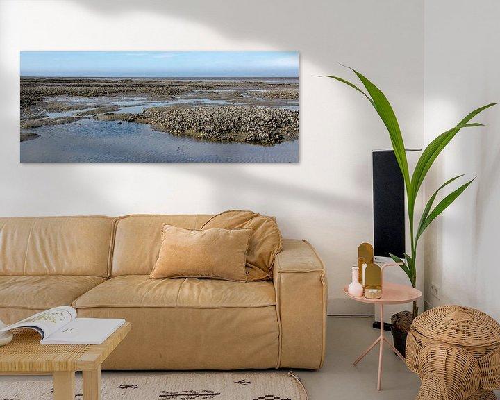 Sfeerimpressie: Oesterbank op de Engelsmanplaat in de Nederlandse Waddenzee.  van Meindert van Dijk