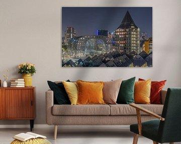 Het stadscentrum van Rotterdam met de Markthal en het Potlood van MS Fotografie | Marc van der Stelt