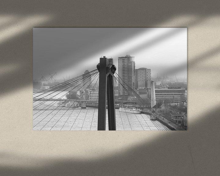 Sfeerimpressie: Het kijkje door de Willemsbrug in Rotterdam van MS Fotografie   Marc van der Stelt