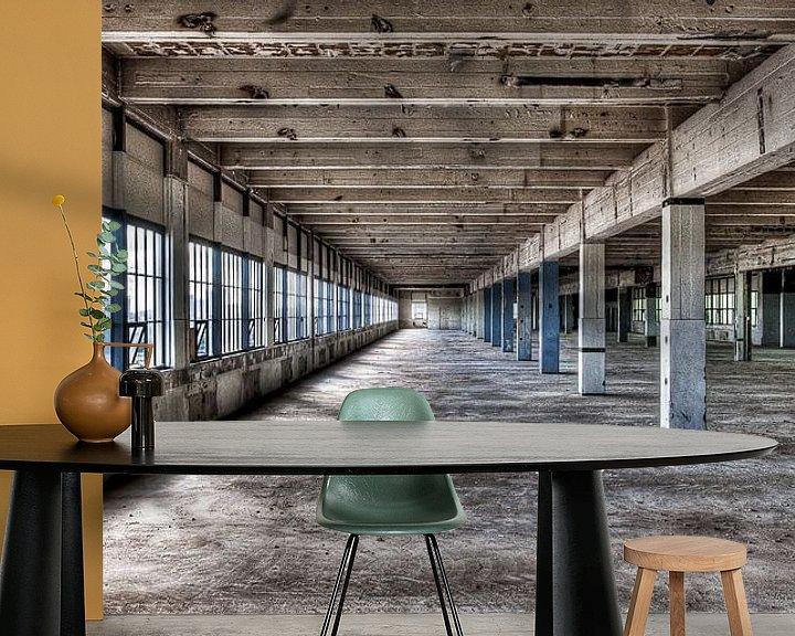 Sfeerimpressie behang: Strijp-S Eindhoven - gebouw Anton voor de renovatie van Bas Wolfs