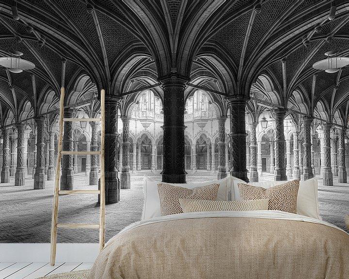 Beispiel fototapete: Pilarengalerij Chambre du Commerce von Marcel van Balken
