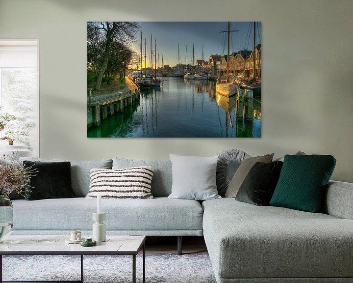 Sfeerimpressie: Binnenhaven in Hoorn van Jan Siebring
