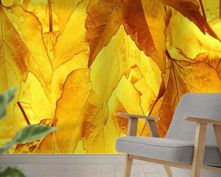 Sfeerimpressie behang: Golden Leaves van Ernst van Voorst