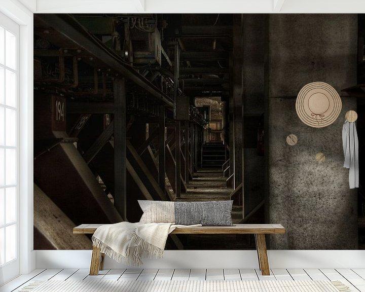 Beispiel fototapete: Een verlaten fabriekshal von Melvin Meijer