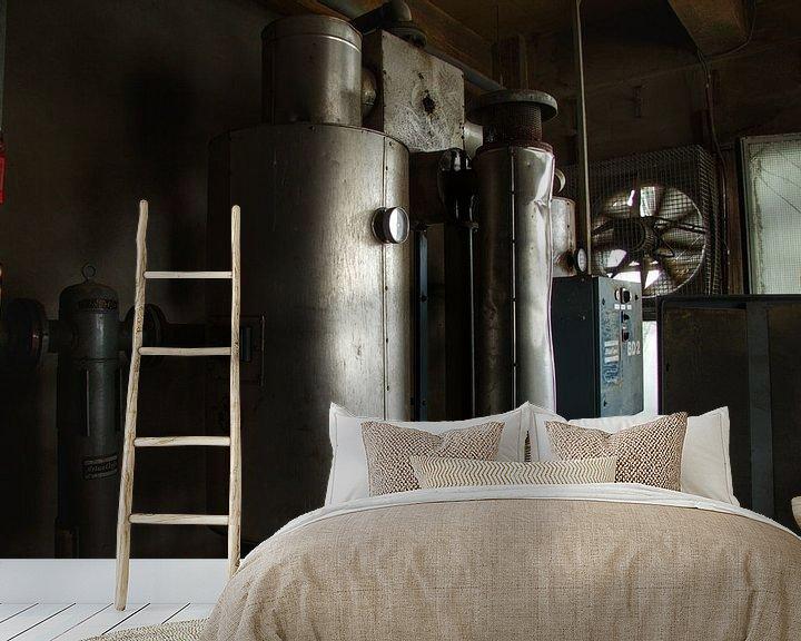 Beispiel fototapete: Verlaten machines in een verlaten fabriek von Melvin Meijer