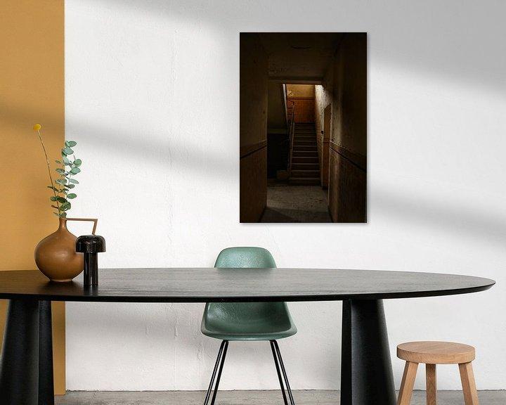 Sfeerimpressie: Een oude trap in een verlaten gebouw van Melvin Meijer