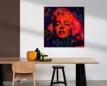 Marilyn Monroe  Love NEON Pop Art PUR von Felix von Altersheim