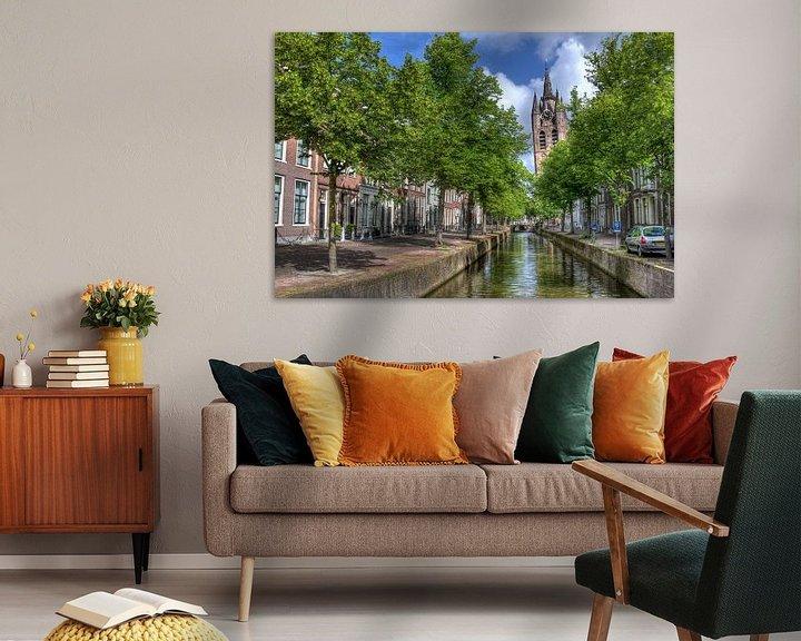 Sfeerimpressie: Oude Kerk van Delft van Jan Kranendonk