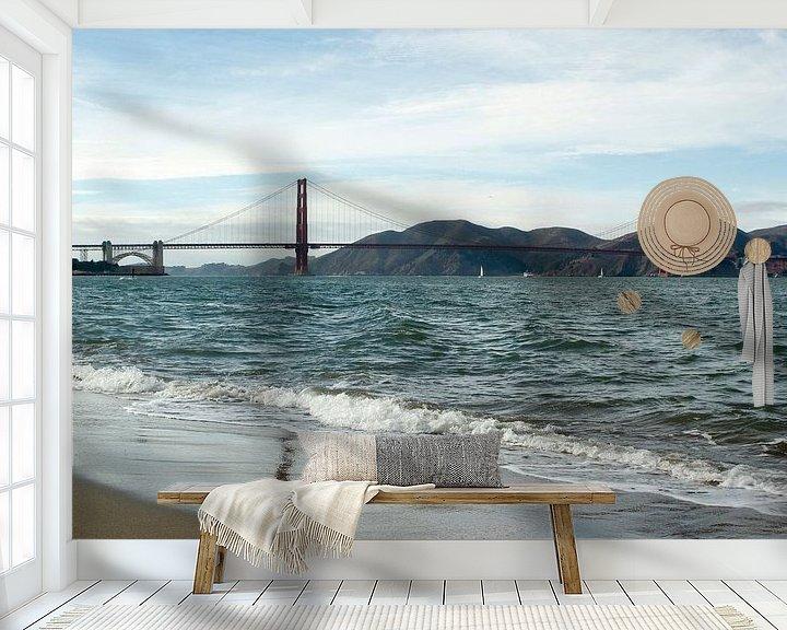 Sfeerimpressie behang: Golden gate bridge van Erik Koks