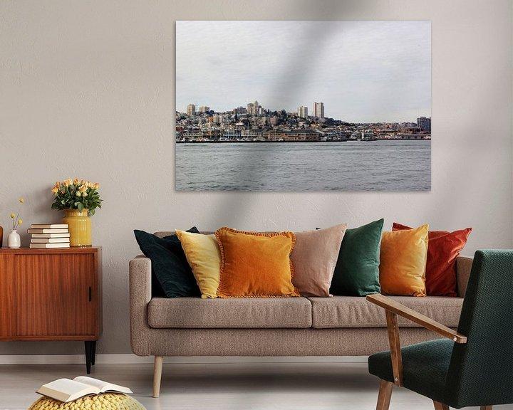 Sfeerimpressie:  San Francisco skyline van Erik Koks